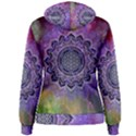 Flower Of Life Indian Ornaments Mandala Universe Women s Pullover Hoodie View2