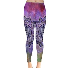 Flower Of Life Indian Ornaments Mandala Universe Winter Leggings