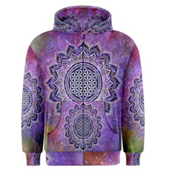 Flower Of Life Indian Ornaments Mandala Universe Men s Zipper Hoodie