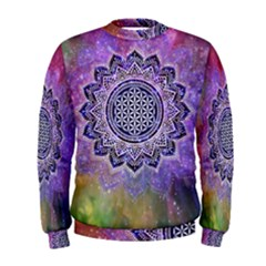 Flower Of Life Indian Ornaments Mandala Universe Men s Sweatshirt
