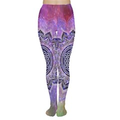 Flower Of Life Indian Ornaments Mandala Universe Women s Tights
