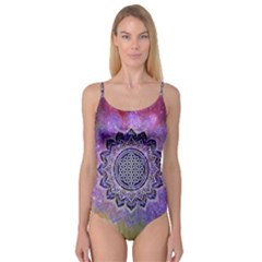 Flower Of Life Indian Ornaments Mandala Universe Camisole Leotard