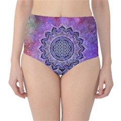 Flower Of Life Indian Ornaments Mandala Universe High-Waist Bikini Bottoms