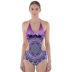 Flower Of Life Indian Ornaments Mandala Universe Cut-Out One Piece Swimsuit