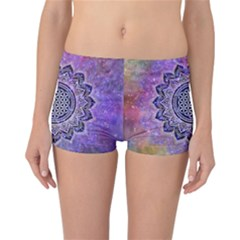 Flower Of Life Indian Ornaments Mandala Universe Reversible Boyleg Bikini Bottoms
