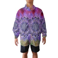 Flower Of Life Indian Ornaments Mandala Universe Wind Breaker (kids)