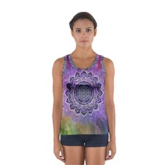 Flower Of Life Indian Ornaments Mandala Universe Women s Sport Tank Top