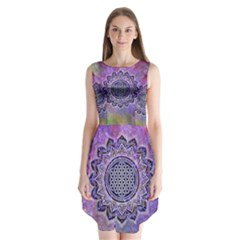 Flower Of Life Indian Ornaments Mandala Universe Sleeveless Chiffon Dress