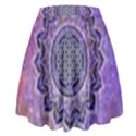 Flower Of Life Indian Ornaments Mandala Universe High Waist Skirt View2