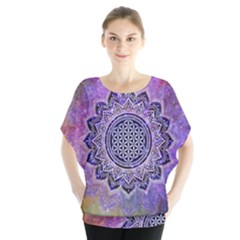 Flower Of Life Indian Ornaments Mandala Universe Blouse