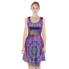 Flower Of Life Indian Ornaments Mandala Universe Racerback Midi Dress
