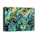 Fractal Batik Art Teal Turquoise Salmon Deluxe Canvas 16  x 12   View1