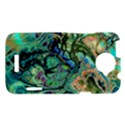 Fractal Batik Art Teal Turquoise Salmon HTC One X Hardshell Case  View1