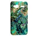 Fractal Batik Art Teal Turquoise Salmon HTC Radar Hardshell Case  View2