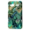 Fractal Batik Art Teal Turquoise Salmon HTC Radar Hardshell Case  View3