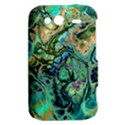 Fractal Batik Art Teal Turquoise Salmon HTC Wildfire S A510e Hardshell Case View2