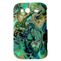 Fractal Batik Art Teal Turquoise Salmon HTC Wildfire S A510e Hardshell Case View3
