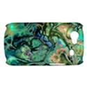 Fractal Batik Art Teal Turquoise Salmon Samsung Galaxy Nexus S i9020 Hardshell Case View1