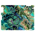 Fractal Batik Art Teal Turquoise Salmon Apple iPad 2 Hardshell Case View1