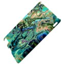 Fractal Batik Art Teal Turquoise Salmon Apple iPad 2 Hardshell Case View4