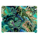 Fractal Batik Art Teal Turquoise Salmon Apple iPad 3/4 Hardshell Case (Compatible with Smart Cover) View1