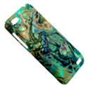 Fractal Batik Art Teal Turquoise Salmon HTC One V Hardshell Case View5