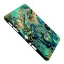 Fractal Batik Art Teal Turquoise Salmon Samsung Galaxy Tab 10.1  P7500 Hardshell Case  View5