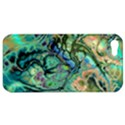 Fractal Batik Art Teal Turquoise Salmon Apple iPhone 5 Hardshell Case View1