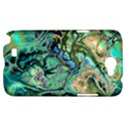 Fractal Batik Art Teal Turquoise Salmon Samsung Galaxy Note 2 Hardshell Case View1