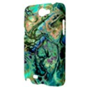 Fractal Batik Art Teal Turquoise Salmon Samsung Galaxy Note 2 Hardshell Case View3