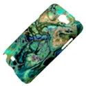 Fractal Batik Art Teal Turquoise Salmon Samsung Galaxy Note 2 Hardshell Case View4