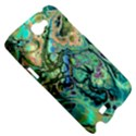 Fractal Batik Art Teal Turquoise Salmon Samsung Galaxy Note 2 Hardshell Case View5