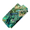 Fractal Batik Art Teal Turquoise Salmon Apple iPhone 5 Hardshell Case (PC+Silicone) View4