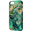 Fractal Batik Art Teal Turquoise Salmon Apple iPhone 5 Classic Hardshell Case View3