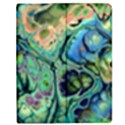 Fractal Batik Art Teal Turquoise Salmon Apple iPad 3/4 Flip Case View1