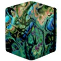 Fractal Batik Art Teal Turquoise Salmon Apple iPad 3/4 Flip Case View4