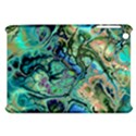 Fractal Batik Art Teal Turquoise Salmon Apple iPad Mini Hardshell Case View1