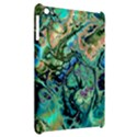 Fractal Batik Art Teal Turquoise Salmon Apple iPad Mini Hardshell Case View2