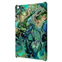 Fractal Batik Art Teal Turquoise Salmon Apple iPad Mini Hardshell Case View3