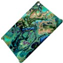 Fractal Batik Art Teal Turquoise Salmon Apple iPad Mini Hardshell Case View4