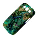 Fractal Batik Art Teal Turquoise Salmon Samsung Galaxy S III Classic Hardshell Case (PC+Silicone) View4