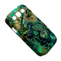 Fractal Batik Art Teal Turquoise Salmon Samsung Galaxy S III Classic Hardshell Case (PC+Silicone) View5