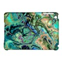 Fractal Batik Art Teal Turquoise Salmon Apple iPad Mini Hardshell Case (Compatible with Smart Cover) View1