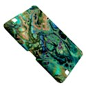 Fractal Batik Art Teal Turquoise Salmon Kindle Fire HD 8.9  View5
