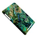 Fractal Batik Art Teal Turquoise Salmon Nexus 7 (2012) View5