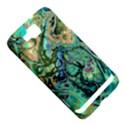 Fractal Batik Art Teal Turquoise Salmon Samsung Ativ S i8750 Hardshell Case View5