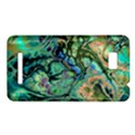 Fractal Batik Art Teal Turquoise Salmon HTC One SU T528W Hardshell Case View1