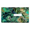 Fractal Batik Art Teal Turquoise Salmon Nokia Lumia 920 View1