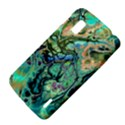 Fractal Batik Art Teal Turquoise Salmon LG Nexus 4 View4