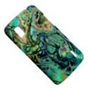 Fractal Batik Art Teal Turquoise Salmon LG Nexus 4 View5